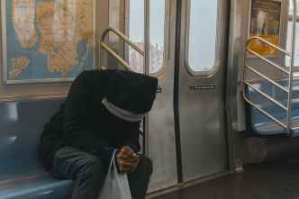 Depressed on train